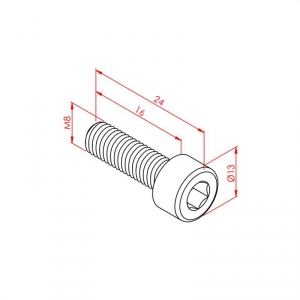 Hex Head Bolt M8x16