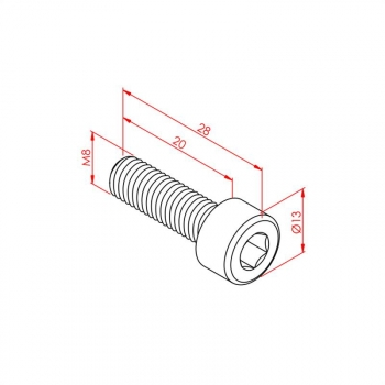 Hex Head Bolt M8x20