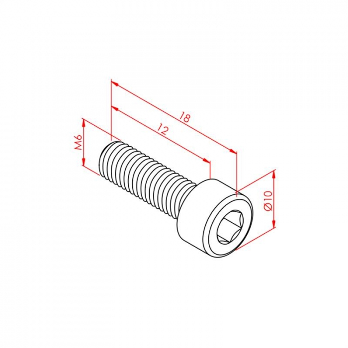 Hex Head Bolt M6x12